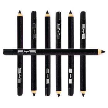BYS Kohl Eyeliner Pencil 01 Black Intense x 6