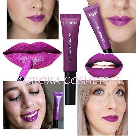 LOreal Matte Infallible Lip Paint 207 Wuthering Purple x 12