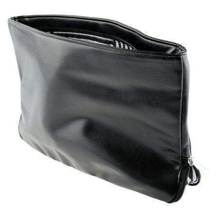 large Black Soft Touch Cosmetic Bag x 6