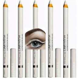 Maybelline Linerefine Expression Kajal Waterproof Eyeliner White x 12