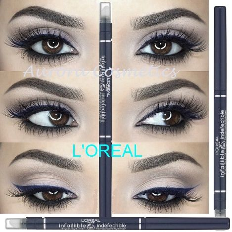 L'Oreal Infallible 16H Retractable Waterproof Eyeliner Stay Blue X 12
