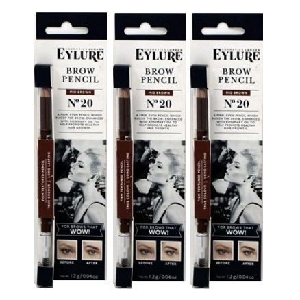 Eylure Firm Brow Pencil No20 Mid Brown x 6