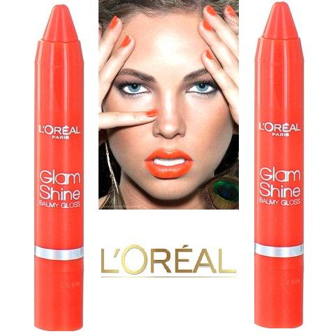 50X L'Oreal Glam Shine Balmy Lip Gloss 910 Bite the Maracuja