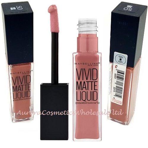 Maybelline Vivid Matte Lipstick 50 Nude Thrill x 12