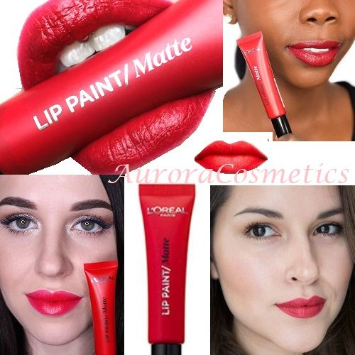 50x L'Oreal Matte Infallible Lip Paint 205 Apocalypse Red
