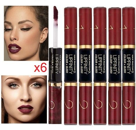 Max Factor Lipfinity Colour & Gloss 550 Lipstick x 6