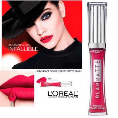 L'Oreal Glam Matte Lipgloss 508 Coral Denimista x 12