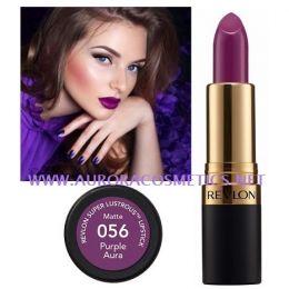 Revlon Superlustrous Lipstick 056 Purple Aura x 12