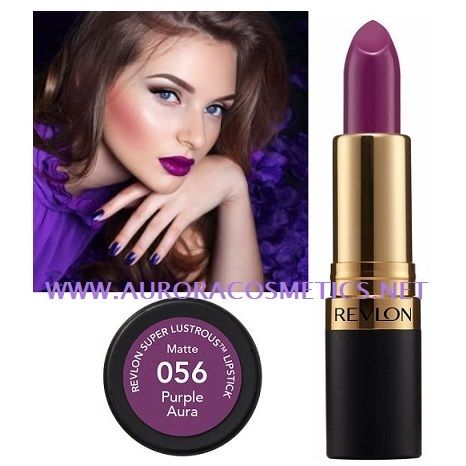 Revlon Superlustrous Lipstick 056 Purple Aura x 6