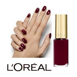 12 x L'Oreal  Color Riche  Nail Polish 410 Bordeaux Escape