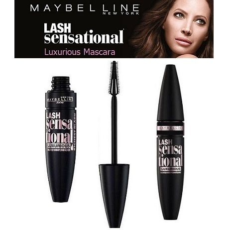 6X Maybelline Lash Sensational Luxurious Richest Black Mascara Extra Black