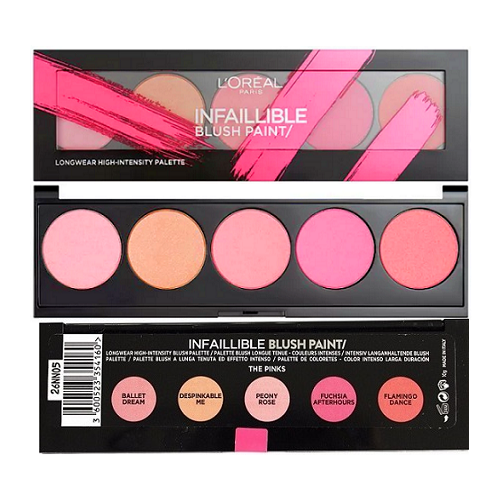 3 X L'Oreal Infallible Blush Paint Palette Pinks